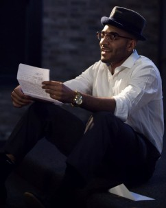 Tarique Francis as Langston Hughes